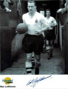Nat Lofthouse, Football, Genuine Signed Autograph
